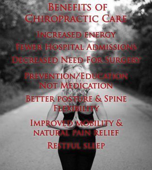blog picture of lady on a road with hands in prayer form behind her back with benefits of chiropractic