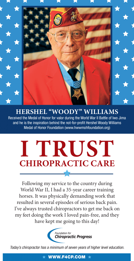 blog picture of WWII veteran and his trust of chiropractic care