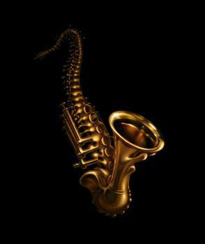 blog picture of saxophone that morphs into a spine
