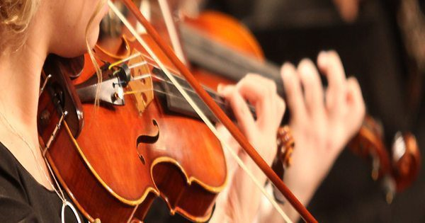 blog picture of violinists performing up close