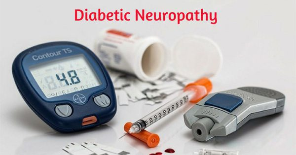 blog picture of diabetic tools and the words diabetic neuropathy