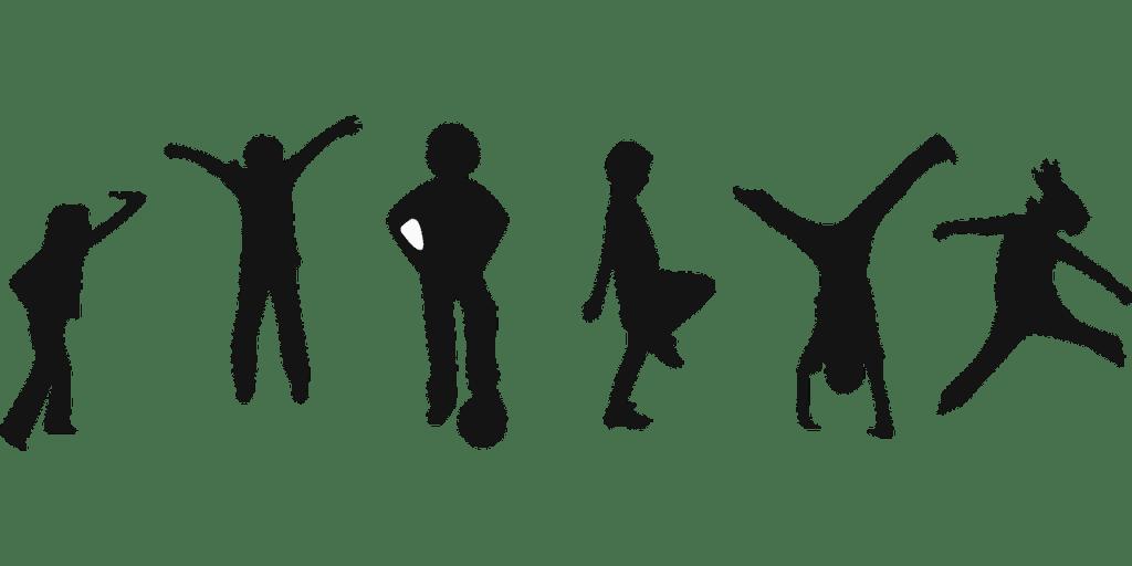 blog silhouette di bambini che giocano vari sport