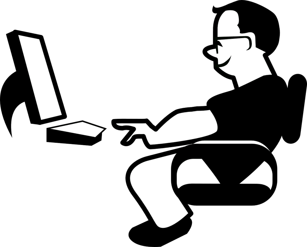 blog illustration of man at a computer