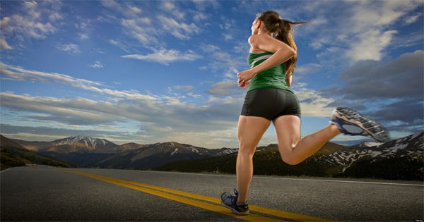 blog picture of woman running on road