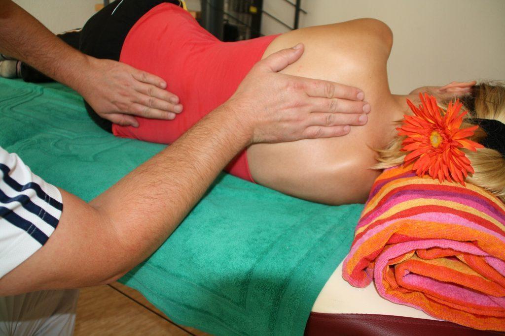 blog de imágenes de la señora que consigue un masaje