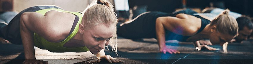 blog picture of lady doing pushups