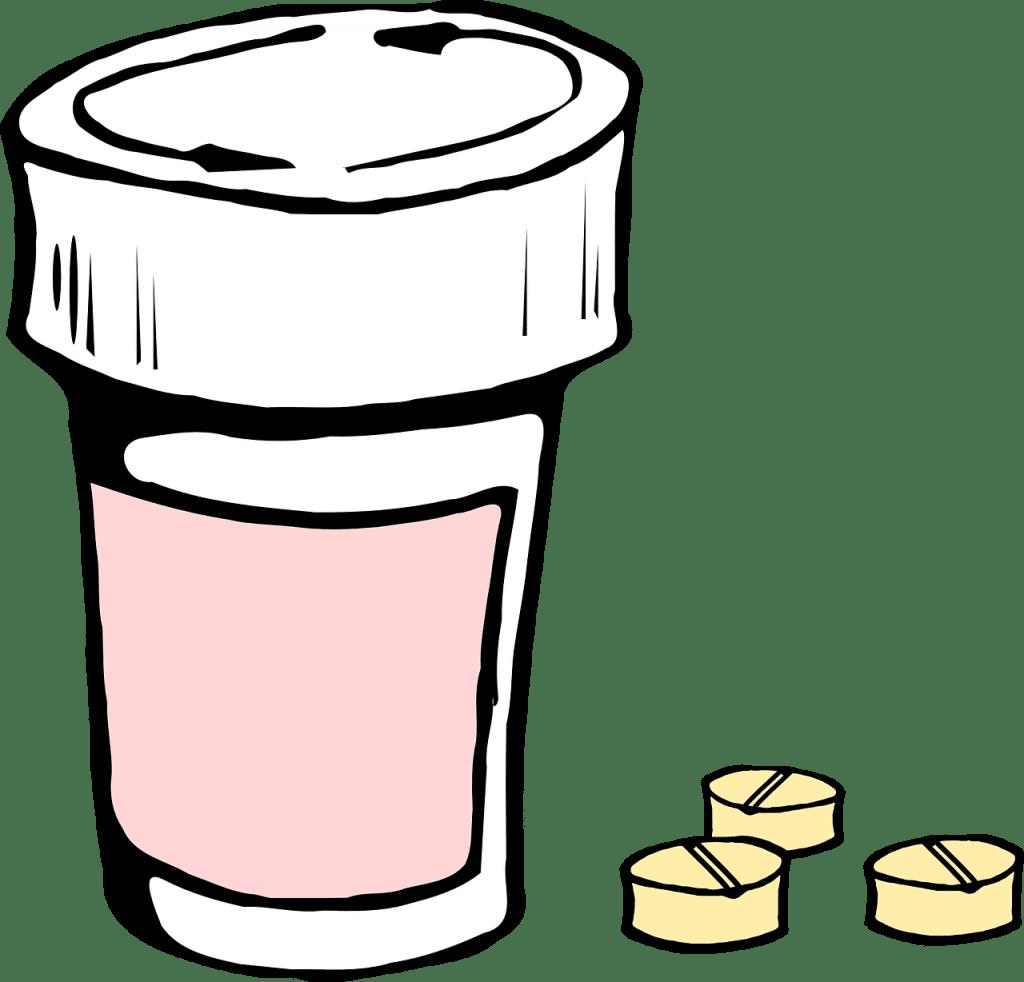 illustrazione di blog di pillola di pillola e pillole