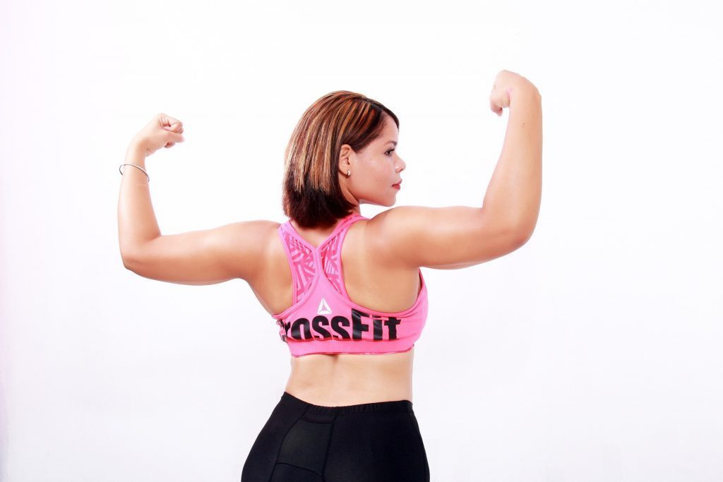 blog picture of lady flexing her arms