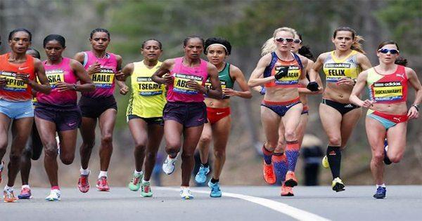 blog de imágenes de mujeres que se ejecutan en maratón