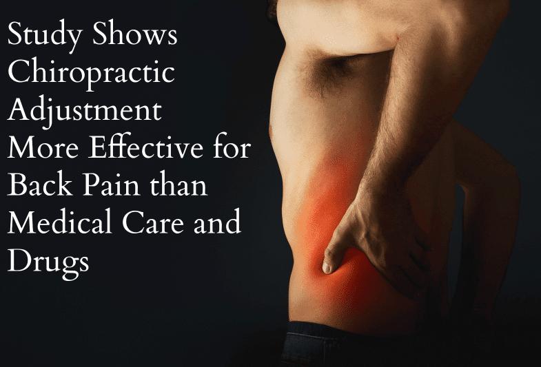 uomo con mal di schiena con trattamento chiropratico di parole più efficace di droghe o cure mediche