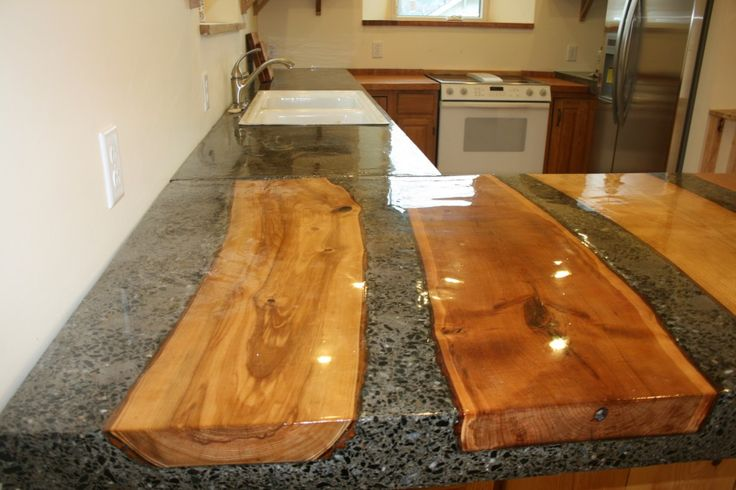 How Choose Kitchen Marble And Wooden Countertop Photo