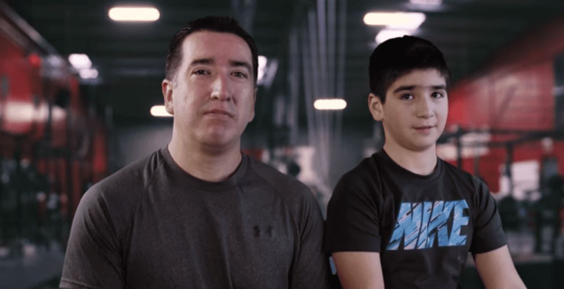 Pablo Mena e filho