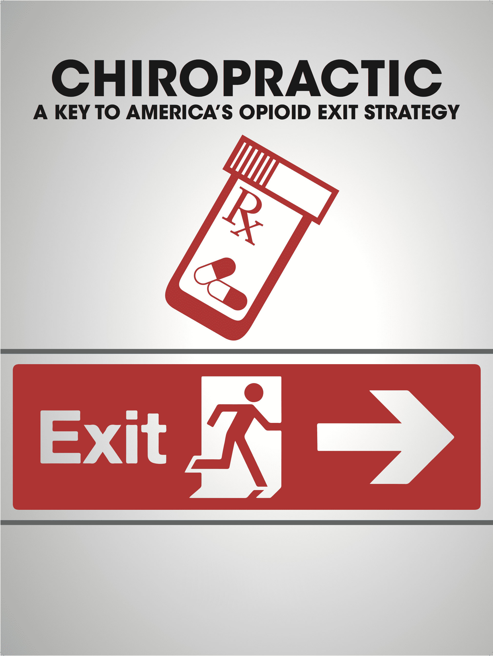 Bottle Of Opioids And An Exit Sign