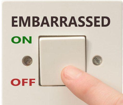 avergonzado en el interruptor M cortado