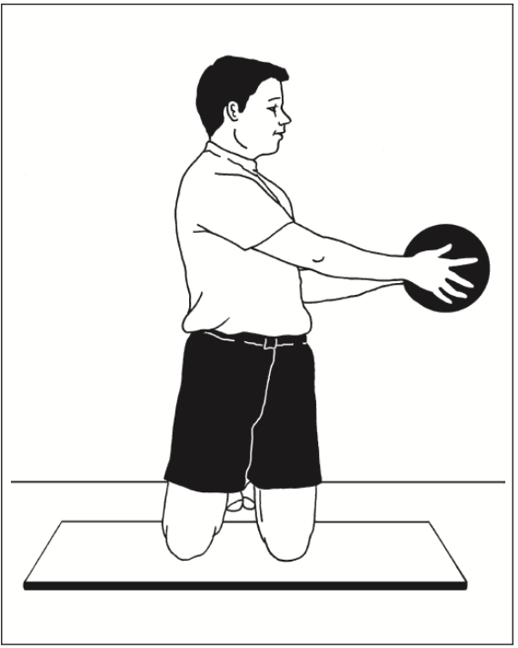 kneeling twist pass