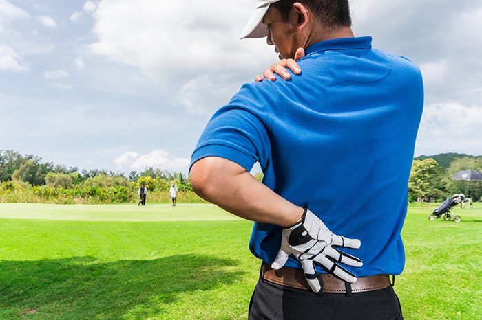golfer back and shoulder pain