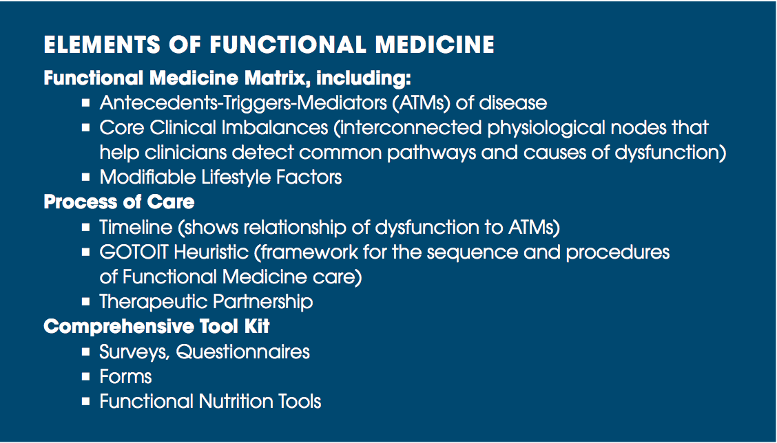 elements of functional medicine