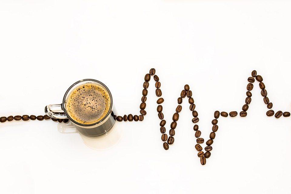 ergogenic coffee cup ekg readout