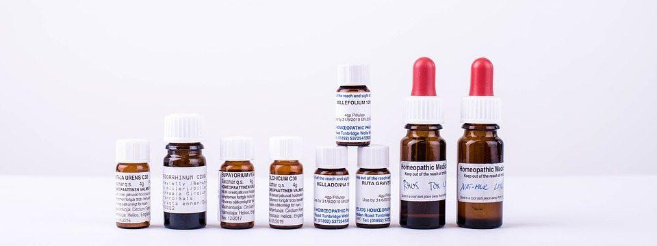 homeopathy medicine vials