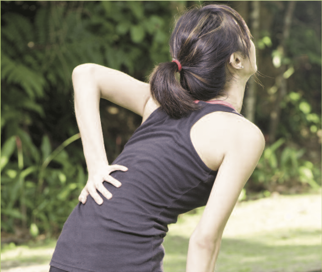 sprains and strains woman low back pain