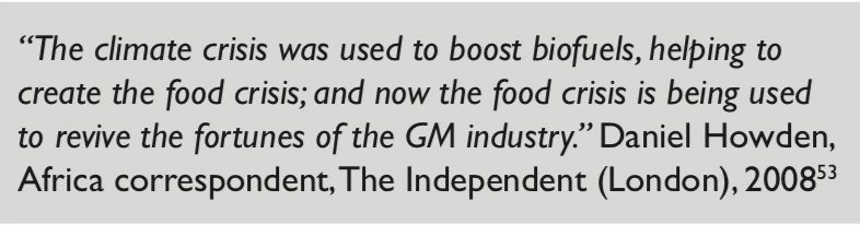 gm crops GM quote