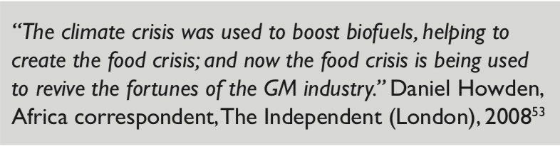 citazione GM di GM delle colture
