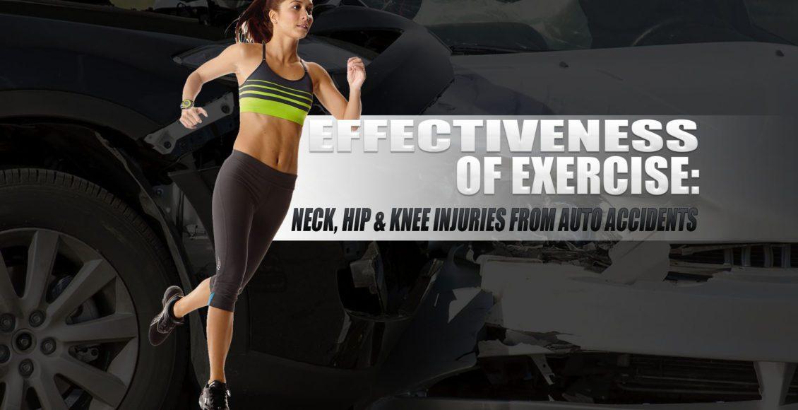 運動の有効性:自動車事故による頸部、股関節、膝の損傷