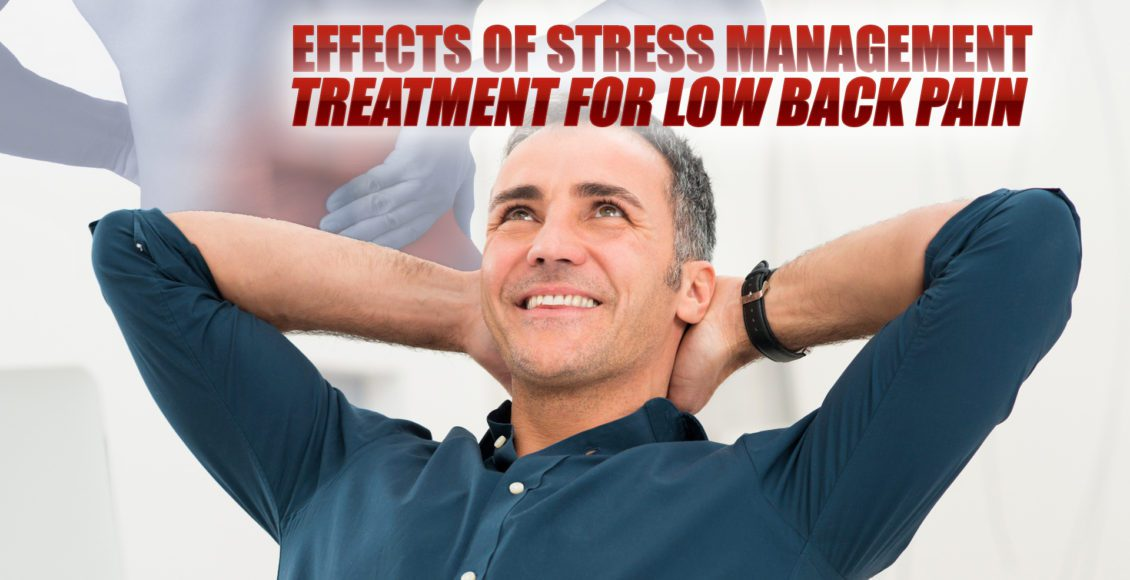 Image of a happy man in a relaxed position after experiencing the effects of stress management treatment for low back pain.