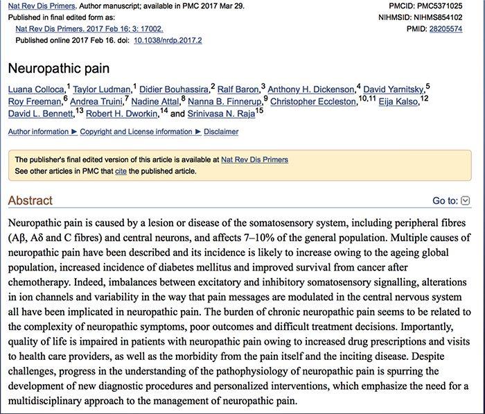 dolore neuropatico el paso tx.