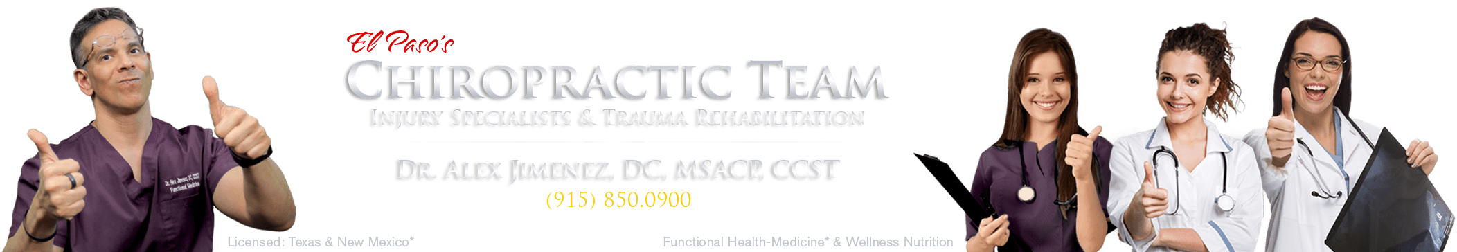 Primeira clínica de Quiropraxia de El Paso 915-850-0900